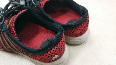 DSC 0184 400x225 赤いスニーカー(アディダス)を購入