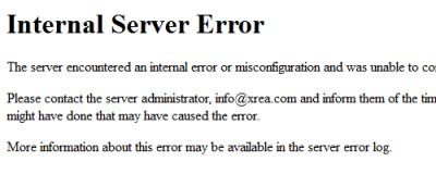 Server Error2 400x160 ホームページの表示を高速化・最適化に取り組んでみました
