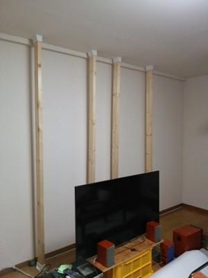 DSC 0099 300x400 大型液晶テレビを壁掛けにDIY アイテムはWAKAI ディアウォール その1