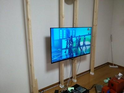 DSC 0103 400x300 大型液晶テレビを壁掛けにDIY アイテムはWAKAI ディアウォール その1