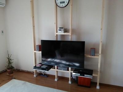 DSC 0148 400x300 大型液晶テレビを壁掛けにDIY アイテムはWAKAI ディアウォール その1