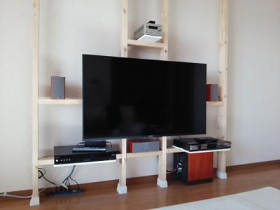 DSC 0150 400x300 大型液晶テレビを壁掛けにDIY アイテムはWAKAI ディアウォール その1