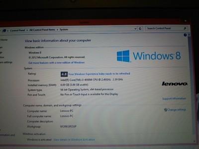 DSC 0016 400x300 ノートパソコン貰った lenovo ThinkPad E540