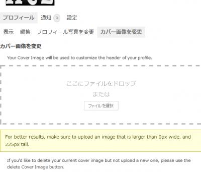 0606 03 400x341 BuddyPress 「プロフィール写真を変更」のカスタマイズ