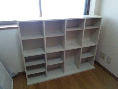 DSC 0078 400x300 要らなくなった本棚を、壁紙使ってリサイクル