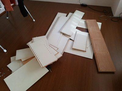 DSC 0079 400x300 要らなくなった本棚を、壁紙使ってリサイクル