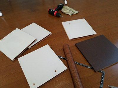 DSC 0083 400x300 要らなくなった本棚を、壁紙使ってリサイクル