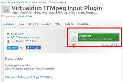 VirtualDub 04 400x267 動画の手振れをPCで簡単に補正する方法 導入ソフトはVirtualDub(バーチャルダブ)