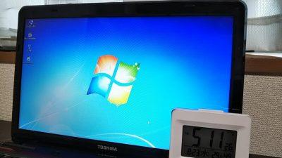 DSC 0071 400x225 Windows10に無償アップグレード【TOSHIBA dynabook T451】所要時間は