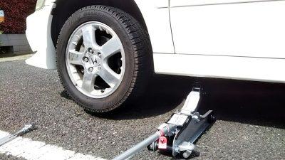 DSC 0175 400x225 アコードワゴン 新品タイヤに2本交換 ローダウン対応ジャッキを購入 2019