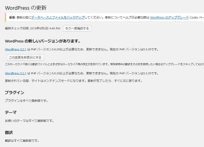 0603 400x289 WordPressの新しいバージョンに更新できません。対処方法
