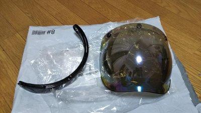 DSC 0029 400x225 ヘルメット(ジェットヘルメット)の格安シールド カラーはカラフル