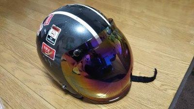 DSC 0034 400x225 ヘルメット(ジェットヘルメット)の格安シールド カラーはカラフル