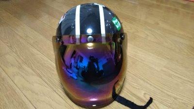 DSC 0036 400x225 ヘルメット(ジェットヘルメット)の格安シールド カラーはカラフル
