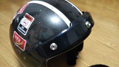 DSC 0037 400x225 ヘルメット(ジェットヘルメット)の格安シールド カラーはカラフル