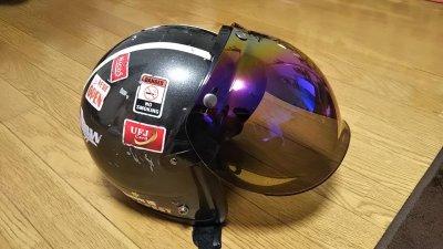 DSC 0041 400x225 ヘルメット(ジェットヘルメット)の格安シールド カラーはカラフル
