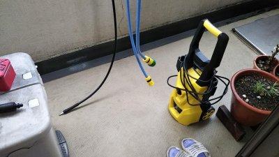 DSC 0055 400x225 ケルヒャーじゃない高圧洗浄機でベランダを掃除してみた