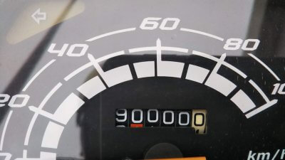 DSC 0064 400x225 ホンダ スペイシー100 キリ番「90,000」2019冬