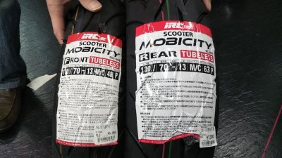 DSC 0160 2 400x225 NMAX125のニュータイヤはIRC モビシティ(MOBICITY)SCT 001 前後交換しました2021