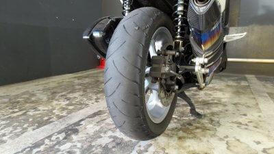IMG 1023 400x225 NMAX125純正タイヤ ダンロップ スクートスマート(DUNLOP SCOOTSMART ) の使い切った状態は